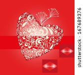 valentine day backgrounds. | Shutterstock .eps vector #167689376