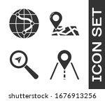 set road traffic sign  location ... | Shutterstock .eps vector #1676913256