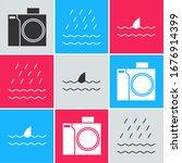 set photo camera for diver ... | Shutterstock .eps vector #1676914399