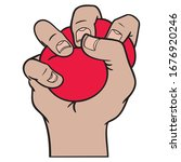 Hand With Red Stress Ball That...
