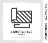 advanced fabric. thin line icon.... | Shutterstock .eps vector #1676927443