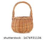 Empty Wicker Basket Isolated On ...