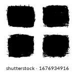 vector grunge frames. grunge... | Shutterstock .eps vector #1676934916