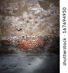 blank old room  wall with... | Shutterstock . vector #167694950