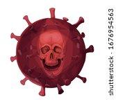 coronavirus human skull... | Shutterstock .eps vector #1676954563