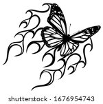 abstract tattoo   a magic... | Shutterstock .eps vector #1676954743