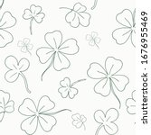Seamless Pattern With Clover....