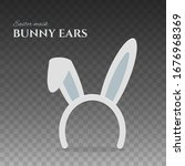 happy easter bunny ears. rabbit ...   Shutterstock .eps vector #1676968369