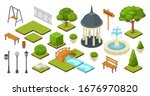 landscape garden outdoor nature ... | Shutterstock .eps vector #1676970820