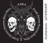 Baphomet Demon Goat Head Hand...