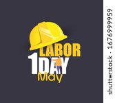 Happy Labor Day Banner 1st May...