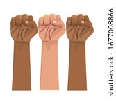 interracial hands human... | Shutterstock .eps vector #1677008866