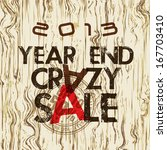 year end crazy sale poster... | Shutterstock .eps vector #167703410