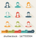 abstract paper elements | Shutterstock .eps vector #167705504