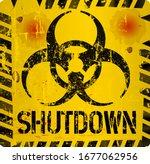 shutdown warning sign  corona...   Shutterstock .eps vector #1677062956