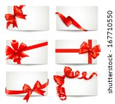 set of beautiful gift cards... | Shutterstock . vector #167710550