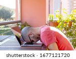 Stressed Caucasian Man With His ...