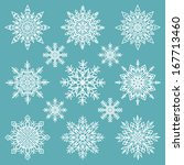 snowflakes set   raster version | Shutterstock . vector #167713460