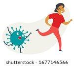 running man from away... | Shutterstock .eps vector #1677146566