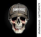 skull head illustration design... | Shutterstock .eps vector #1677149479
