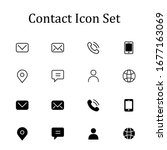 contact set icon simple... | Shutterstock .eps vector #1677163069