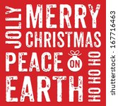 seamless typographic christmas... | Shutterstock .eps vector #167716463