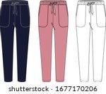sweatpants fashion flat...   Shutterstock .eps vector #1677170206