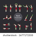 girl exercises with elastic...   Shutterstock .eps vector #1677172333