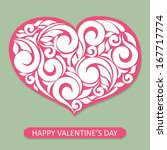happy valentines day card | Shutterstock .eps vector #167717774