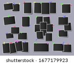 photos on color adhesive tapes. ... | Shutterstock .eps vector #1677179923
