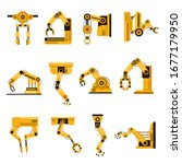 manufacturing robots arms.... | Shutterstock .eps vector #1677179950