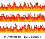 Flame Borders. Fire Blazing...