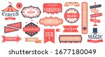 circus event labels. carnival... | Shutterstock .eps vector #1677180049