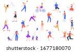 outdoor activity. characters... | Shutterstock .eps vector #1677180070