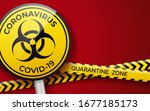 danger vector tape quarantine... | Shutterstock .eps vector #1677185173