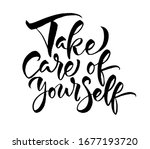 take care of yourself. vector... | Shutterstock .eps vector #1677193720