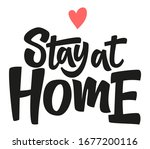 stay at home. coronavirus covid ... | Shutterstock .eps vector #1677200116