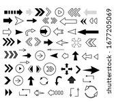 set of black vector arrows.... | Shutterstock .eps vector #1677205069