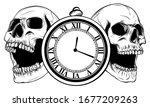 antique pocket watch. vector... | Shutterstock .eps vector #1677209263