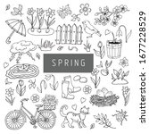 A Set Of Spring Themed...