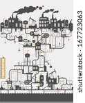 vector concept   oil factory   Shutterstock .eps vector #167723063