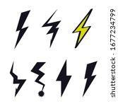 lightning icon logo flash sign... | Shutterstock .eps vector #1677234799