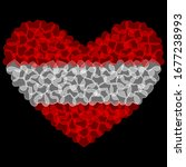 Austria Flag in Heart Shape. Transparent hearts design. Izolated vector Illustration. Use for printing, posters, T-shirts, textile drawing, print pattern, etc. Follow other flags in my collection.