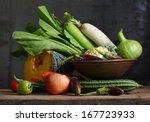 Still Life Harvested Vegetable...