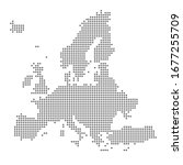 vector dotted map of europe | Shutterstock .eps vector #1677255709