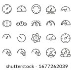 dashboard icon set. simple set... | Shutterstock .eps vector #1677262039