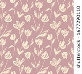 seamless pattern of flowers... | Shutterstock .eps vector #1677290110