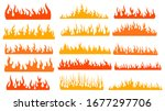 set of fires. collection of... | Shutterstock .eps vector #1677297706