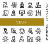 staff simple icons set.... | Shutterstock .eps vector #1677315730