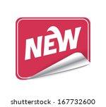 sticker new. raster copy | Shutterstock . vector #167732600